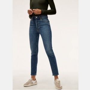 AGOLDE Nico Hi Rise Slim Fit Jeans in Subdued